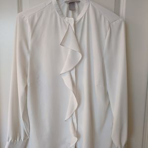 H&M ruffle front blouse